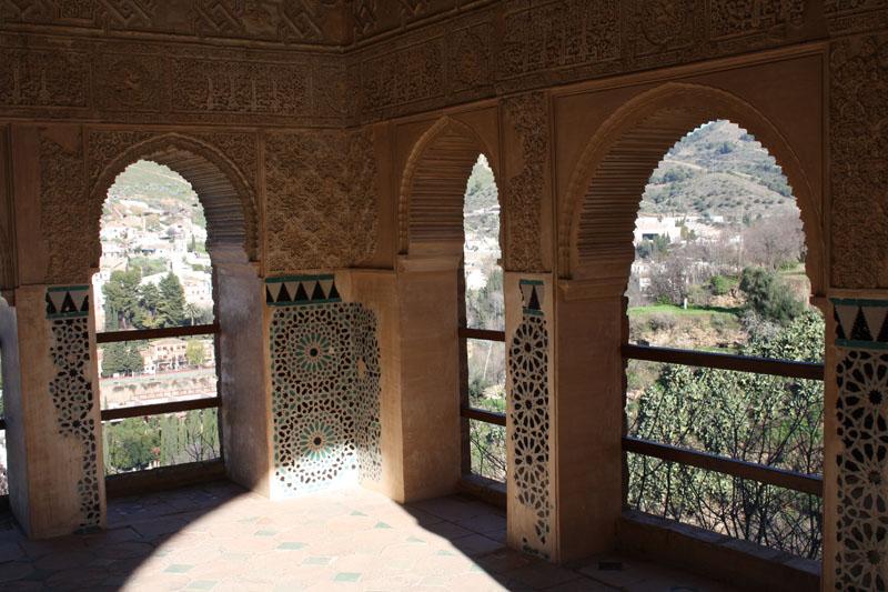 Panoramicas peinador de la reina alhambra de granada for Calle jardin de la reina granada